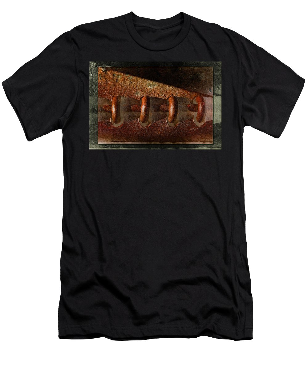 Rust Men's T-Shirt (Athletic Fit) featuring the photograph Rust Rings by WB Johnston