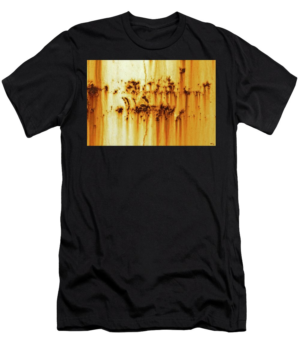 Brown Men's T-Shirt (Athletic Fit) featuring the photograph Rustage 1 by Brian Kenney