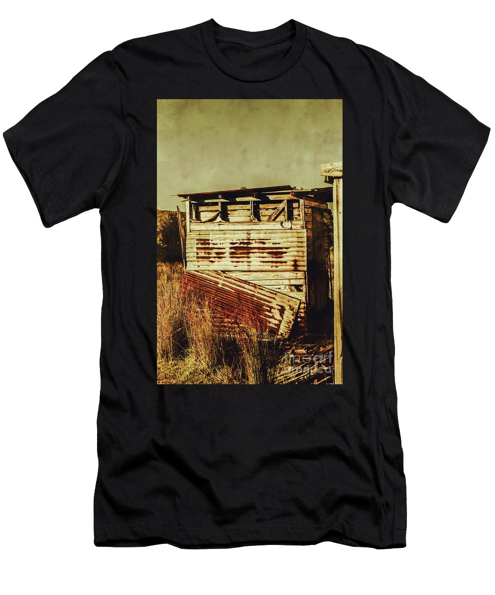 Old Men's T-Shirt (Athletic Fit) featuring the photograph Rustic Abandonment by Jorgo Photography - Wall Art Gallery