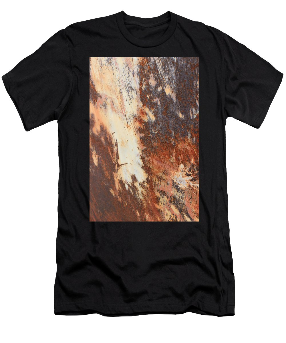 Rust Men's T-Shirt (Athletic Fit) featuring the photograph Rusty Drum #1 by Wade Milne