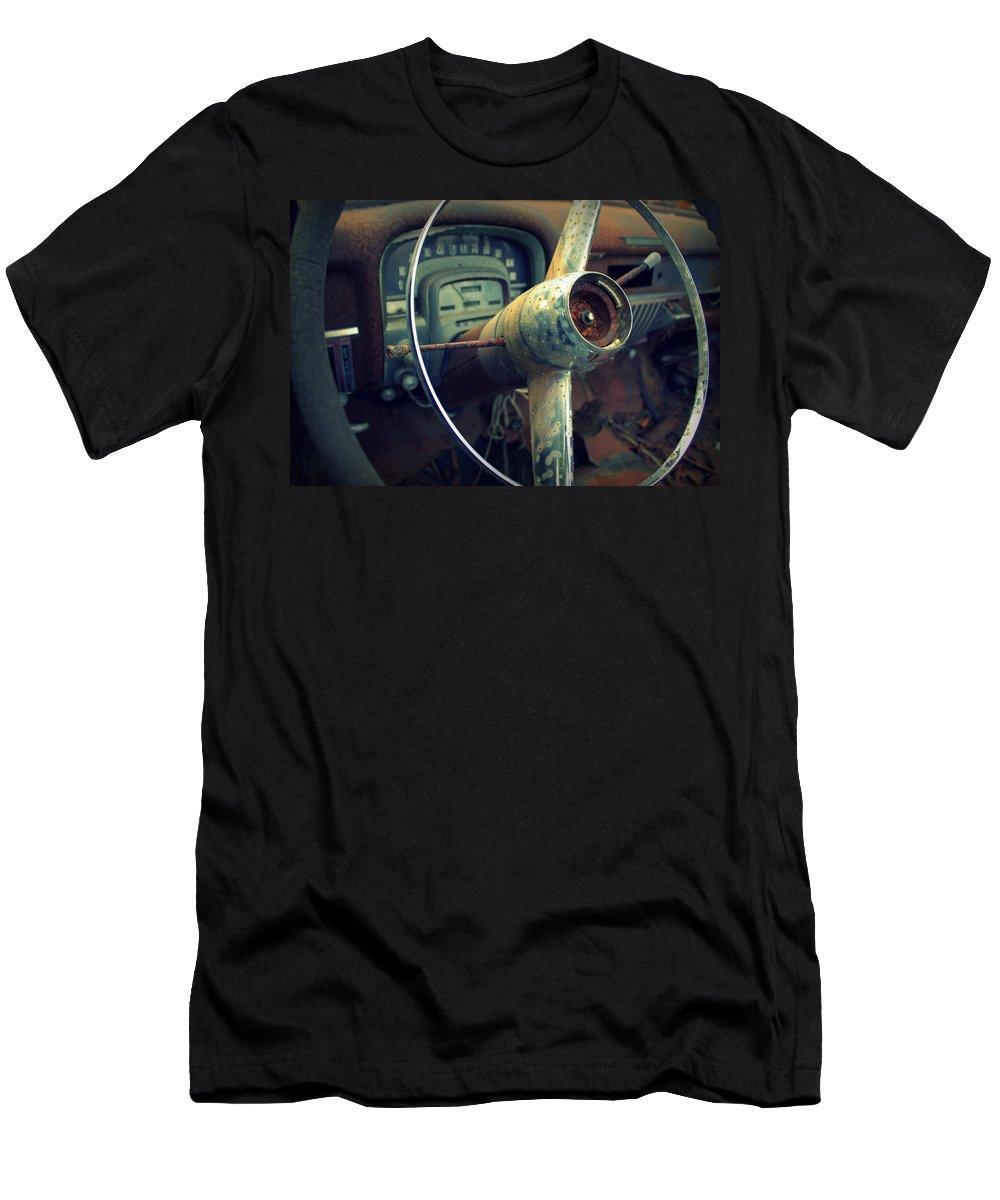 Auto Men's T-Shirt (Athletic Fit) featuring the photograph Rusty by Joseph Skompski