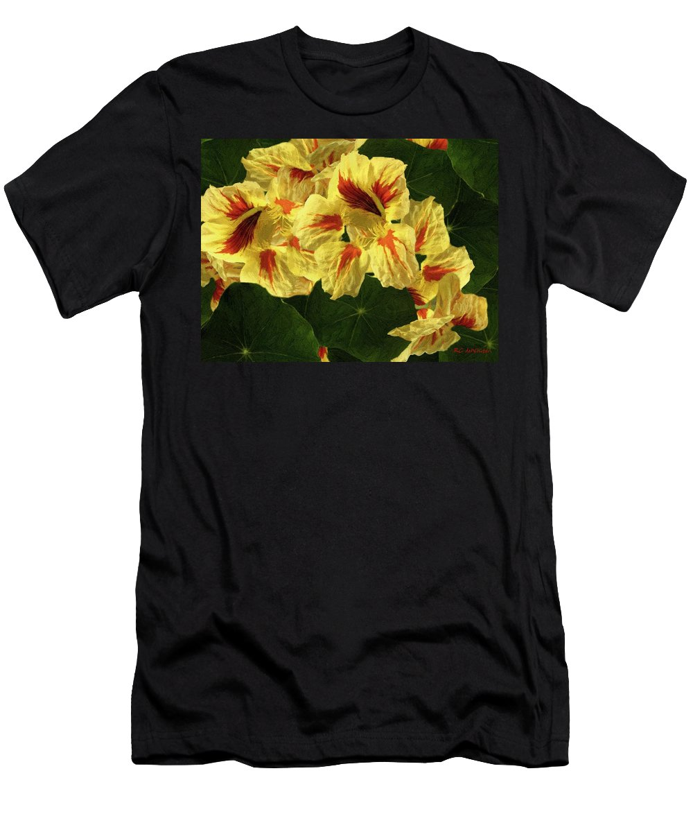 Autumn Men's T-Shirt (Athletic Fit) featuring the painting Rusty Kisses by RC DeWinter