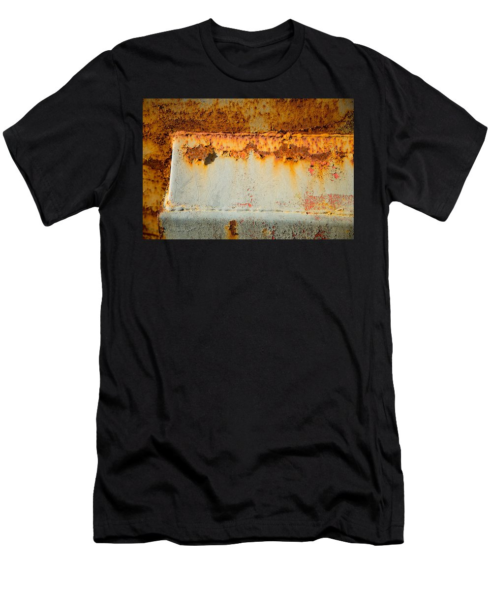 Rusty Peel Men's T-Shirt (Athletic Fit) featuring the photograph Rusty Peel by Karol Livote
