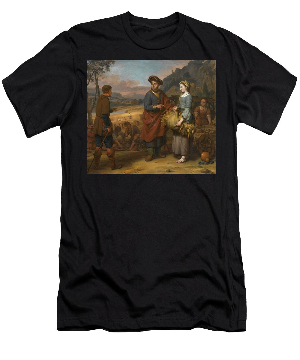 Gerbrand Van Den Eeckhout Ruth And Boaz Men's T-Shirt (Athletic Fit) featuring the painting Ruth And Boaz by MotionAge Designs