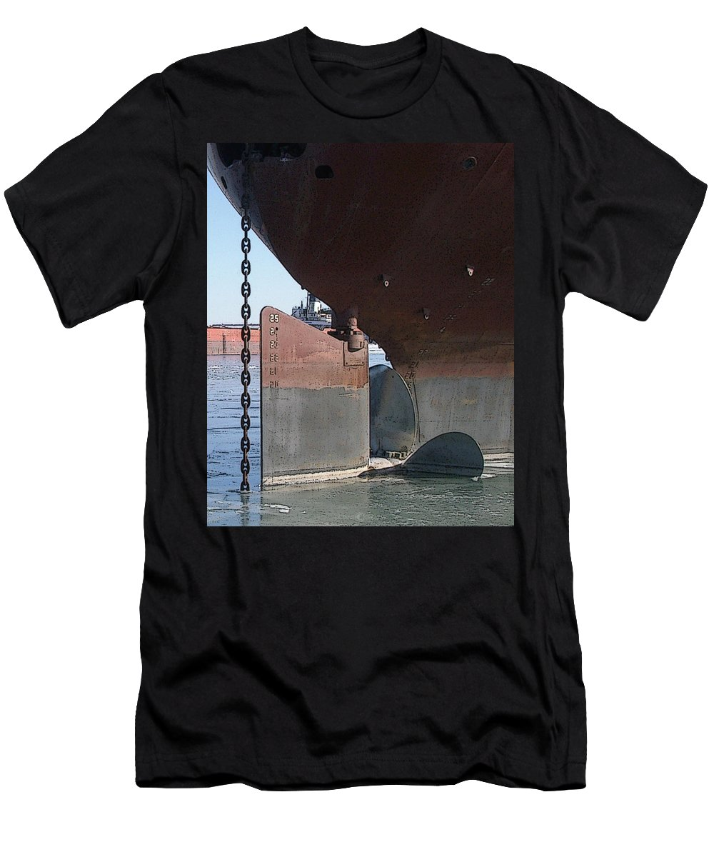 Prop Men's T-Shirt (Athletic Fit) featuring the photograph Ryerson Prop by Tim Nyberg