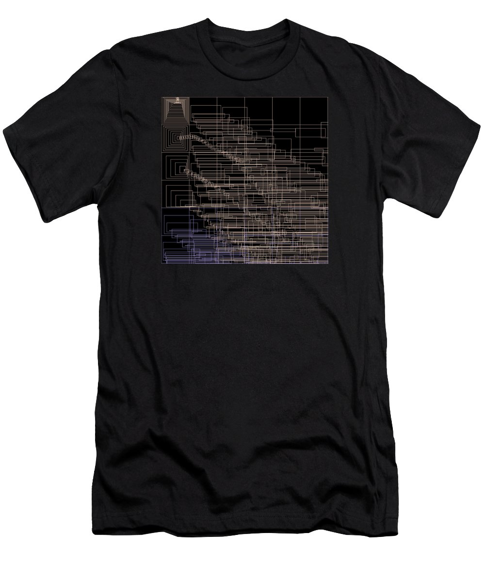 Abstract Men's T-Shirt (Athletic Fit) featuring the digital art S.4.24 by Gareth Lewis