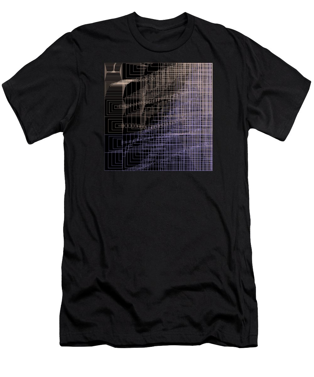 Abstract Men's T-Shirt (Athletic Fit) featuring the digital art S.4.26 by Gareth Lewis