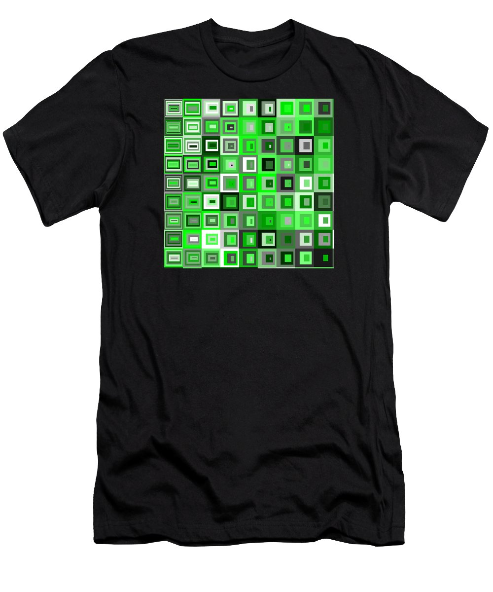 Abstract Men's T-Shirt (Athletic Fit) featuring the digital art S.5.26 by Gareth Lewis