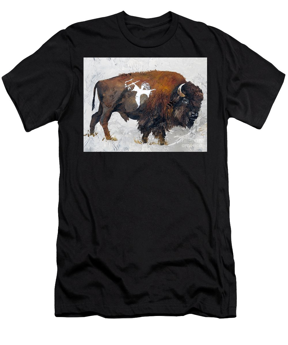 Southwest Art Men's T-Shirt (Athletic Fit) featuring the painting Sacred Gift by J W Baker