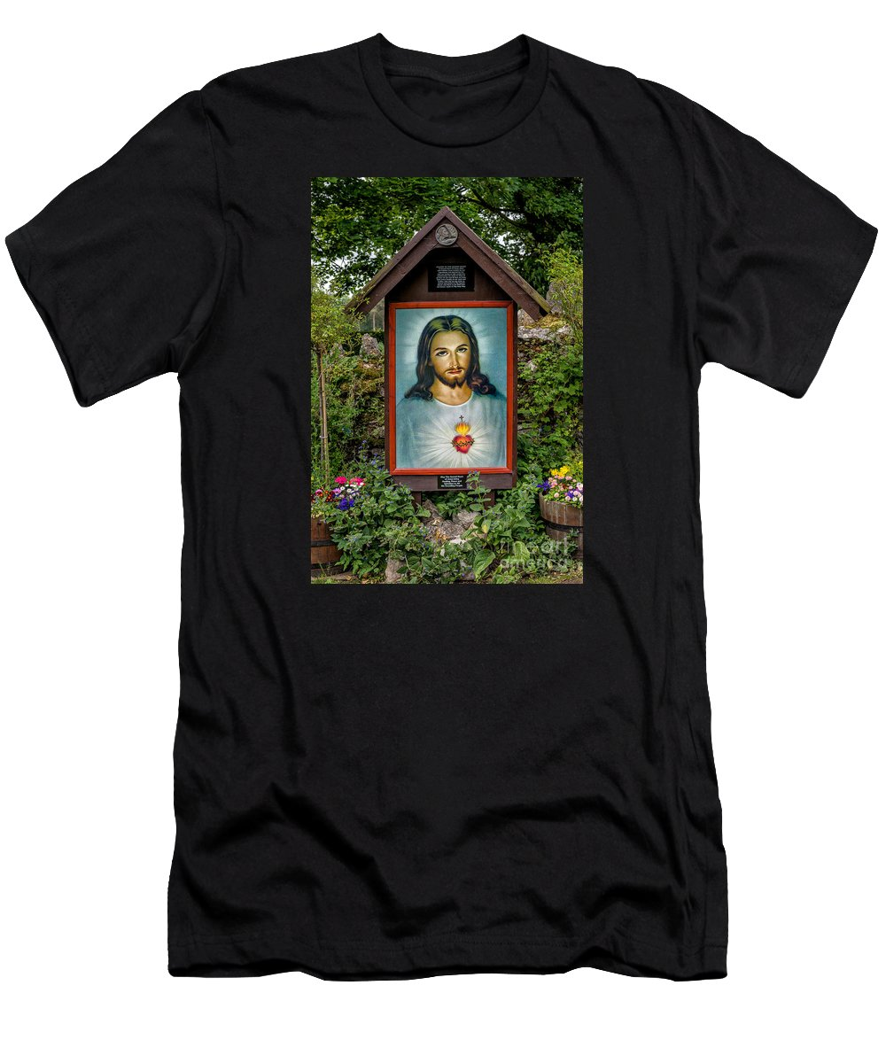 Catholic Men's T-Shirt (Athletic Fit) featuring the photograph Sacred Heart by Adrian Evans