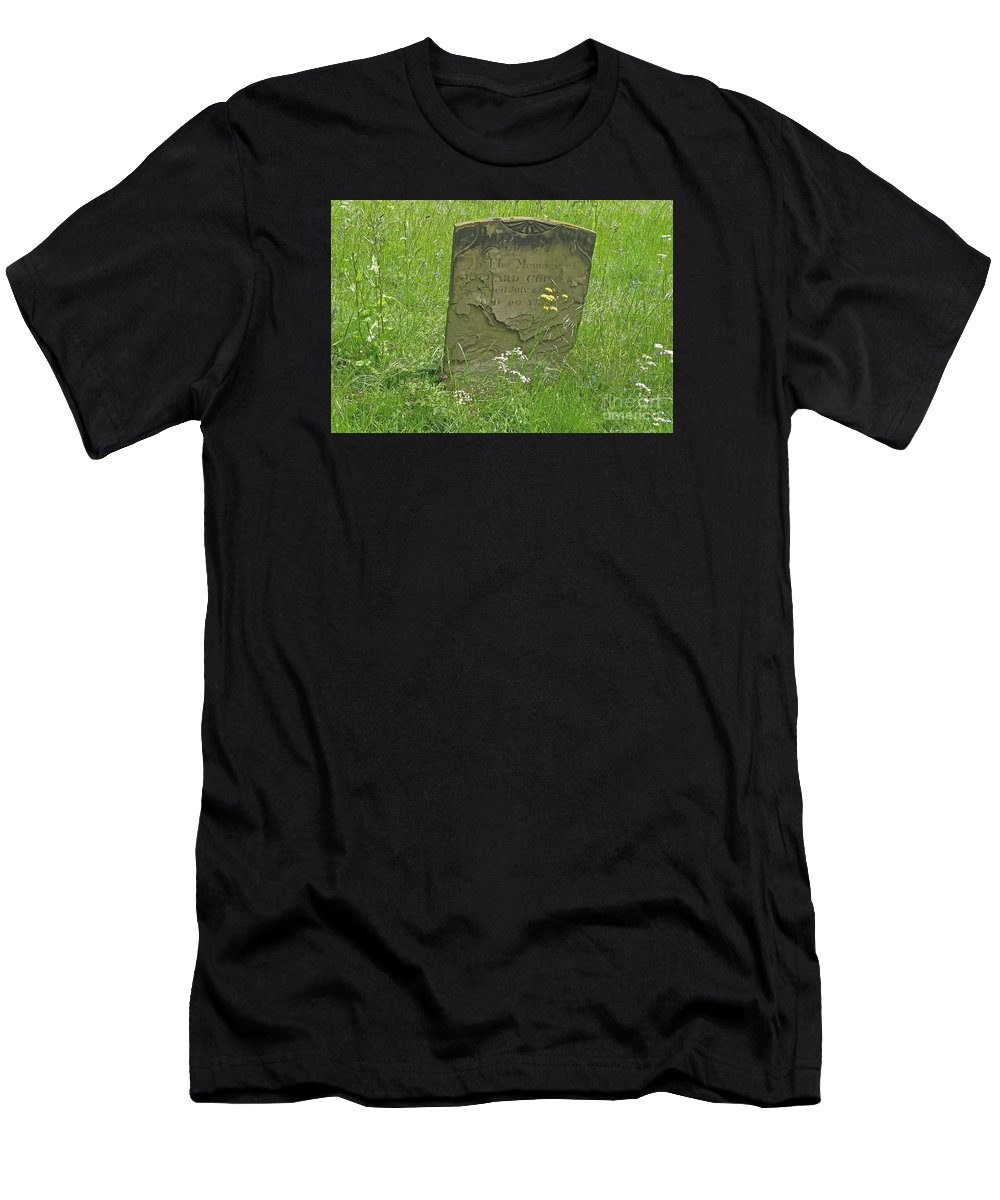 Tombstone Men's T-Shirt (Athletic Fit) featuring the photograph Sacred Memory by Ann Horn
