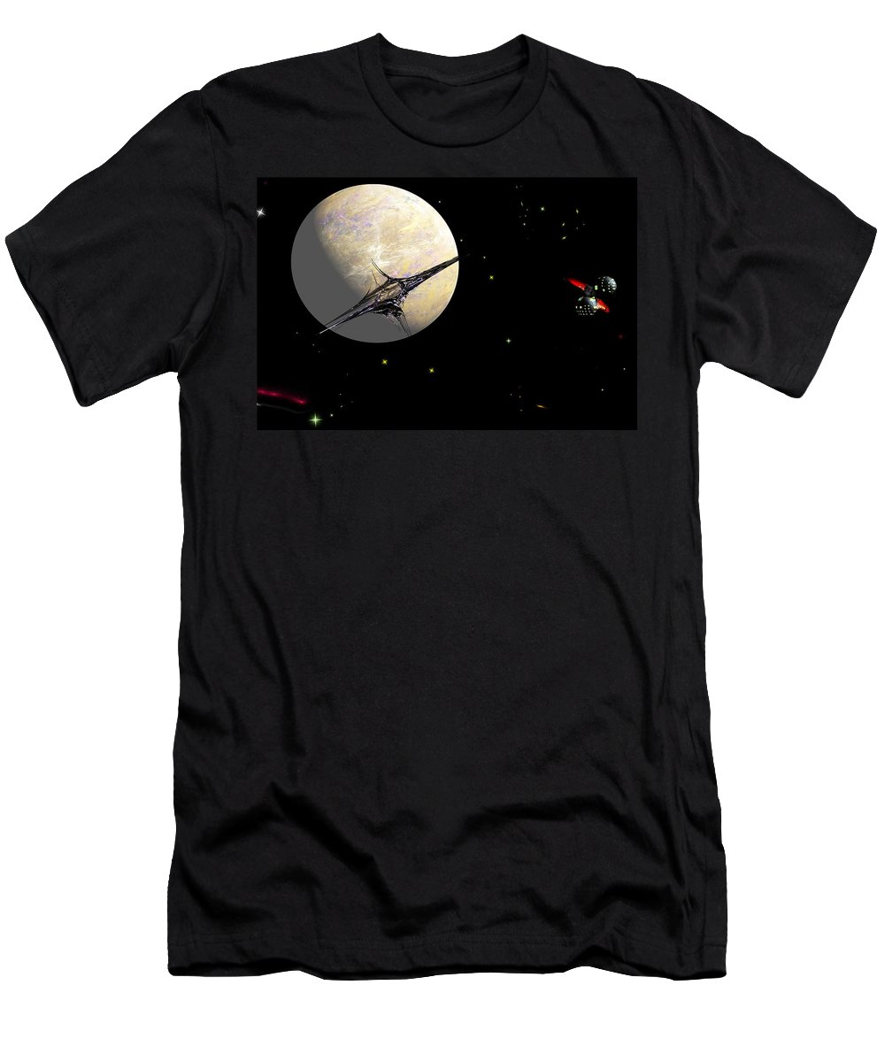 Abstract Men's T-Shirt (Athletic Fit) featuring the digital art Sagan Station At Betelgeuse IIi by David Lane