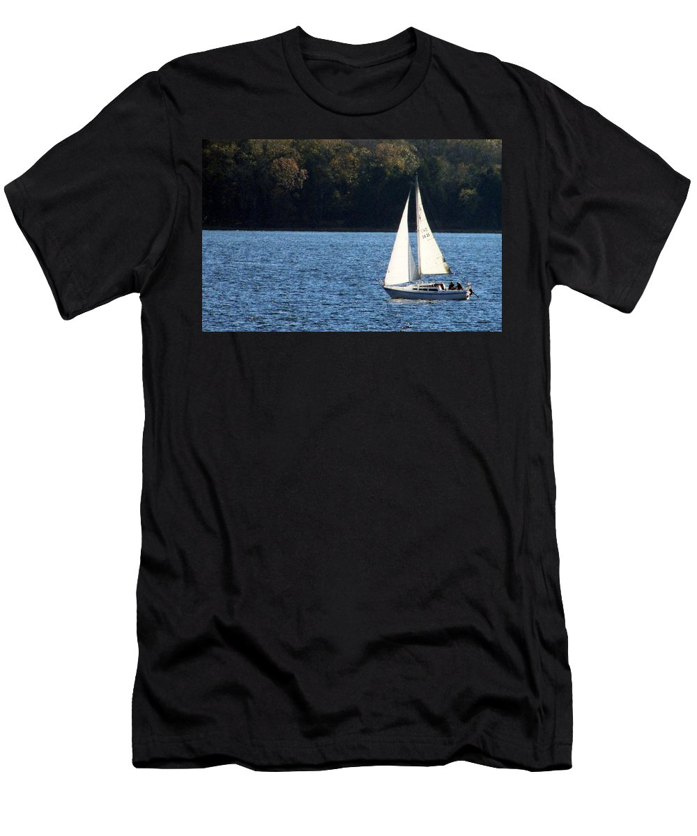 Men's T-Shirt (Athletic Fit) featuring the photograph Sail Boat by Thomas Dowd