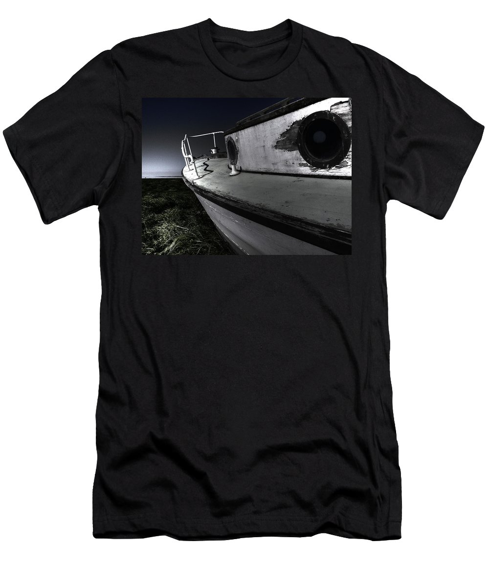 Sailing Men's T-Shirt (Athletic Fit) featuring the photograph Sailing Land by Kelly Jade King