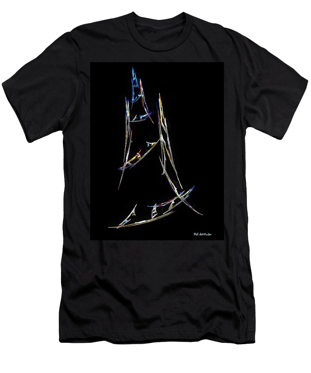 Abstract Men's T-Shirt (Athletic Fit) featuring the digital art Sailing The South China Sea by RC DeWinter