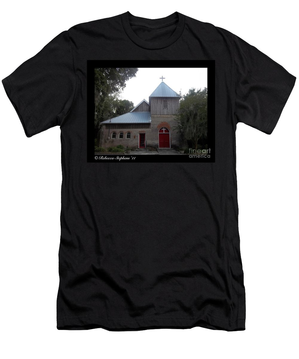 Saint Men's T-Shirt (Athletic Fit) featuring the photograph Saint Cyprians Episcopal Church by Rebecca Stephens