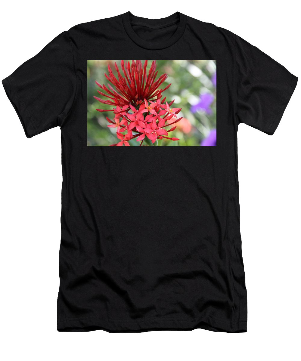 Flower Men's T-Shirt (Athletic Fit) featuring the photograph Saint Lucia Flower IIi by Angela Niesz