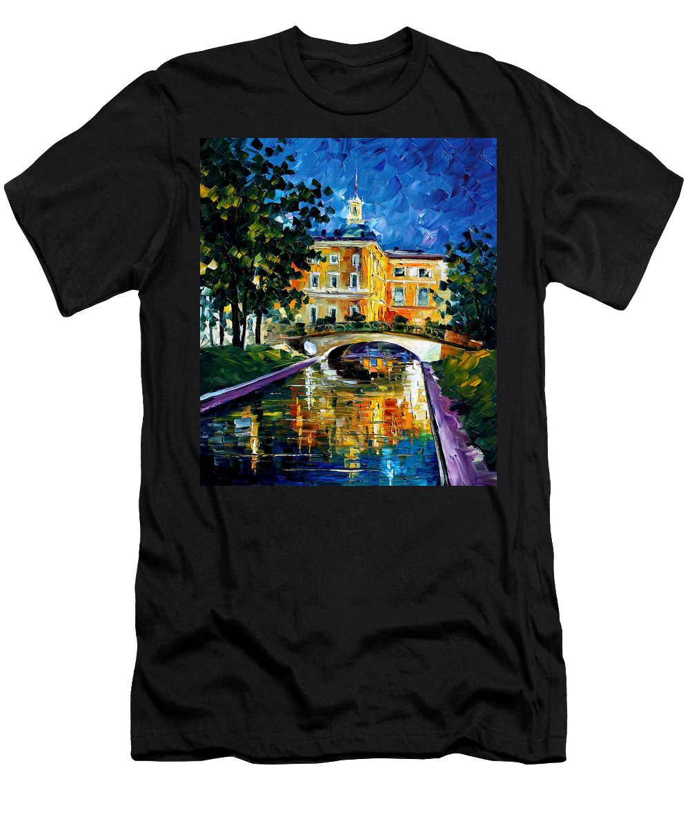 City Men's T-Shirt (Athletic Fit) featuring the painting saint petersburg Russia by Leonid Afremov