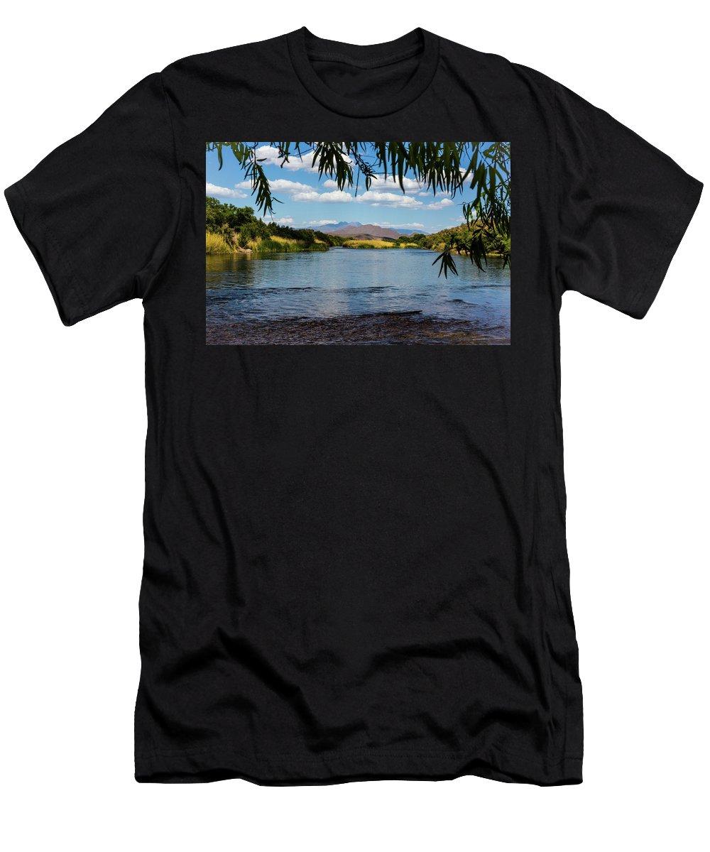 Arizona Men's T-Shirt (Athletic Fit) featuring the photograph Salt River Arizona by Billy Bateman