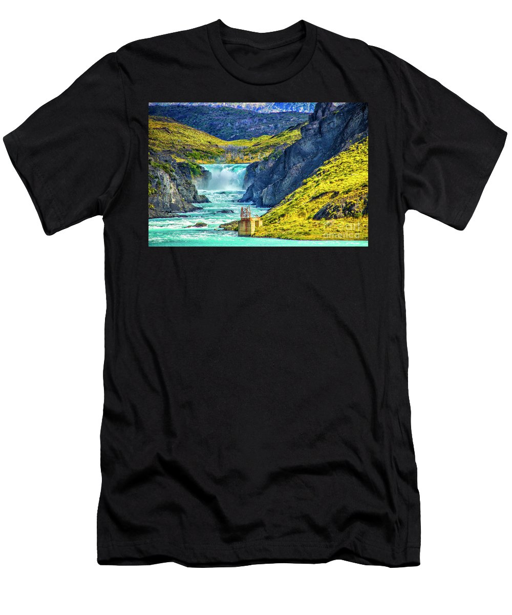 Salto Grande Men's T-Shirt (Athletic Fit) featuring the photograph Salto Grande by Roberta Bragan