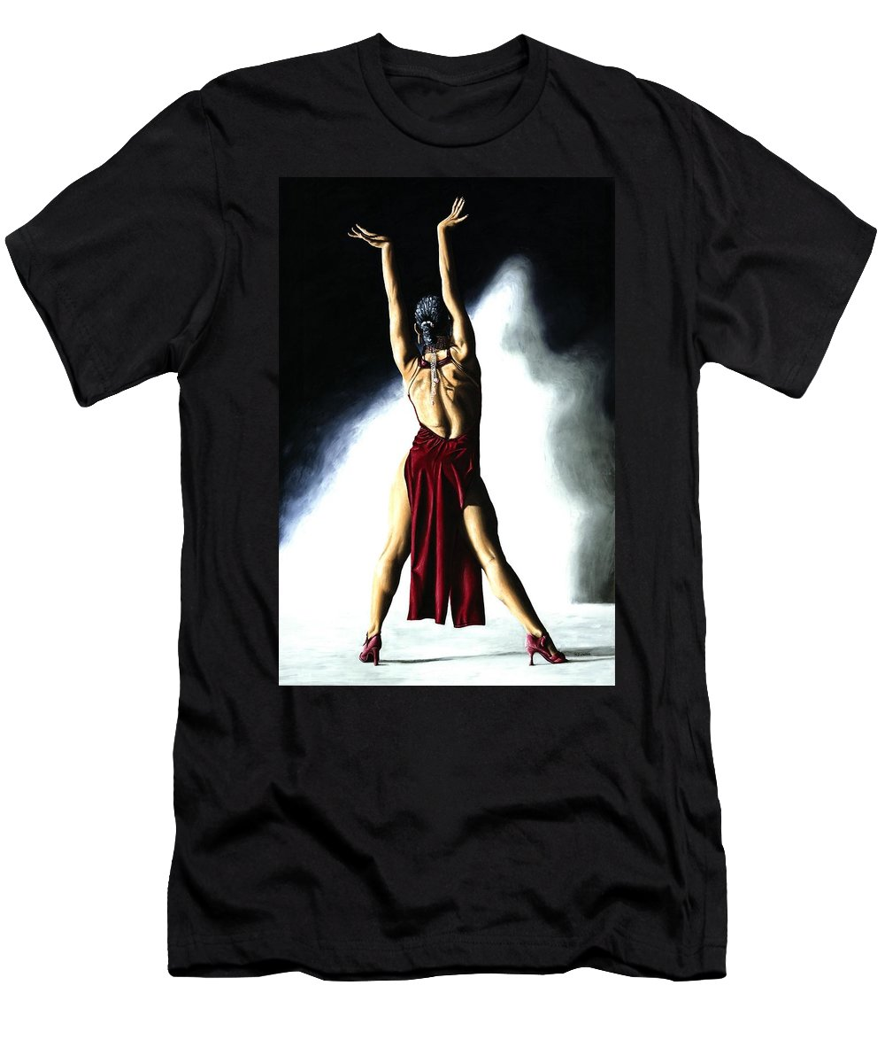 Samba Men's T-Shirt (Athletic Fit) featuring the painting Samba Celebration by Richard Young