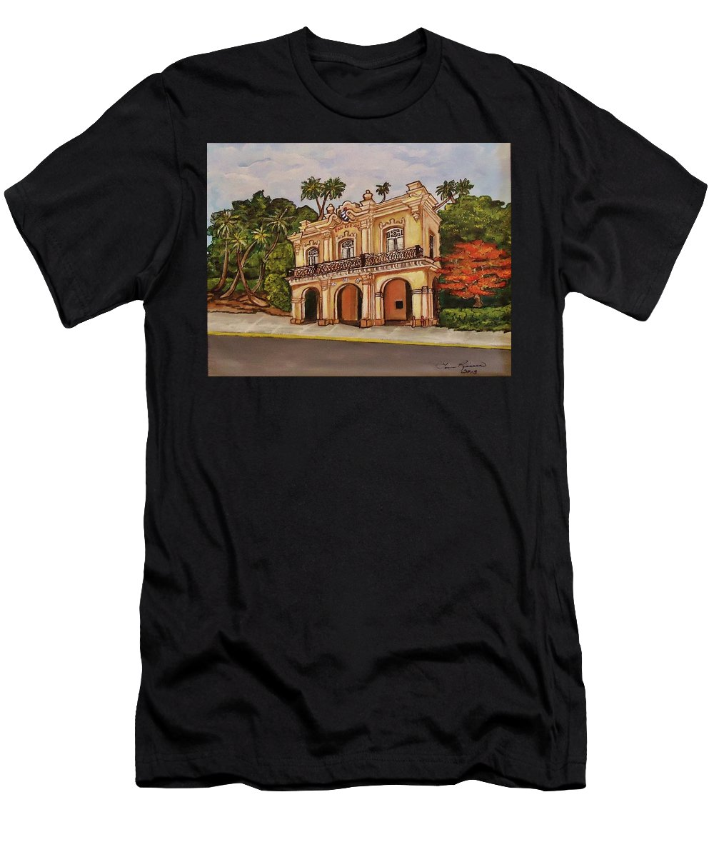 Florida Keys Men's T-Shirt (Athletic Fit) featuring the painting San Carlos Institute by Lois Rivera