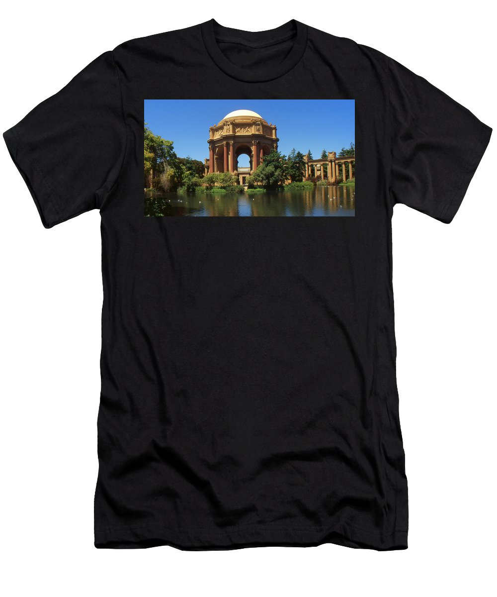 San+francisco Men's T-Shirt (Athletic Fit) featuring the photograph San Francisco - Palace Of Fine Arts by Peter Potter
