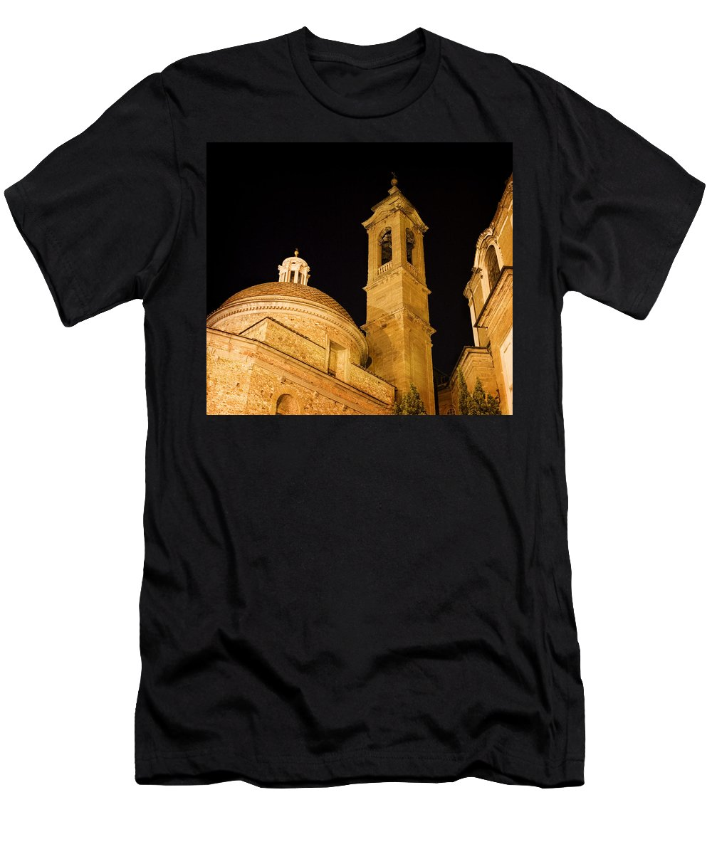 Architecture Men's T-Shirt (Athletic Fit) featuring the photograph San Lorenzo Chruch Florence Italy by Marilyn Hunt