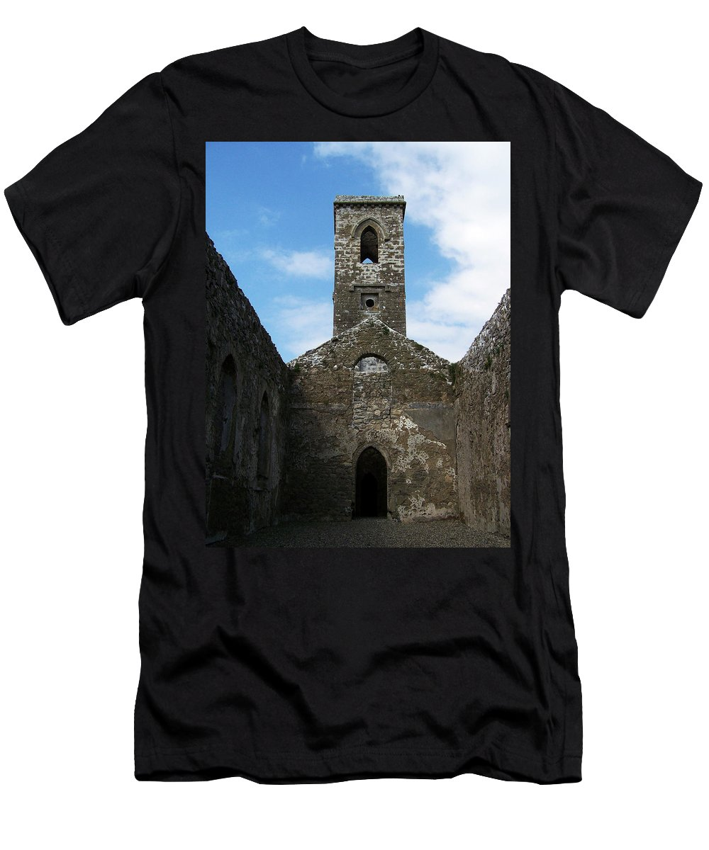 Ireland Men's T-Shirt (Athletic Fit) featuring the photograph Sanctuary Fuerty Church Roscommon Ireland by Teresa Mucha