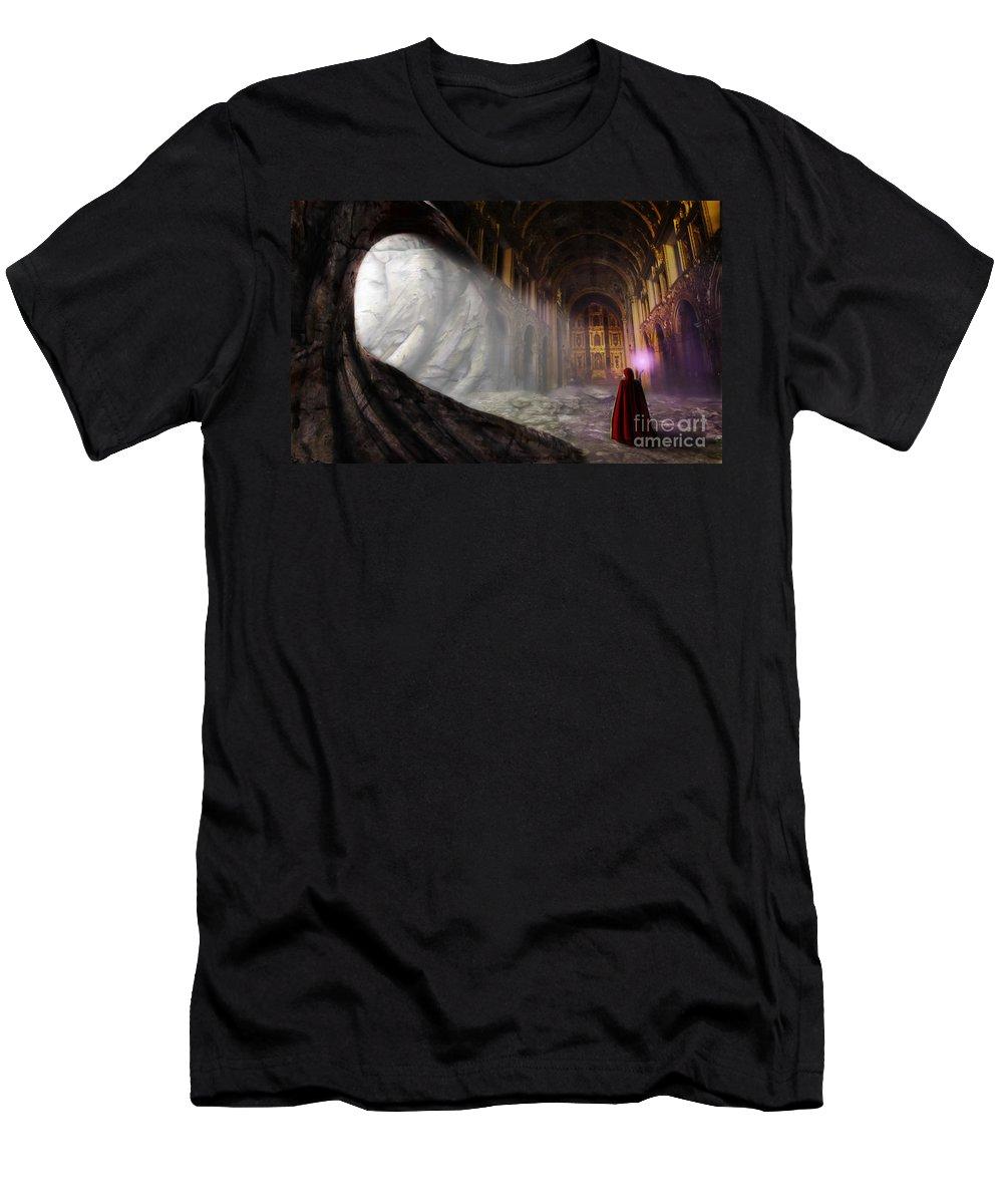 Arcane Men's T-Shirt (Athletic Fit) featuring the digital art Sanctum by John Edwards