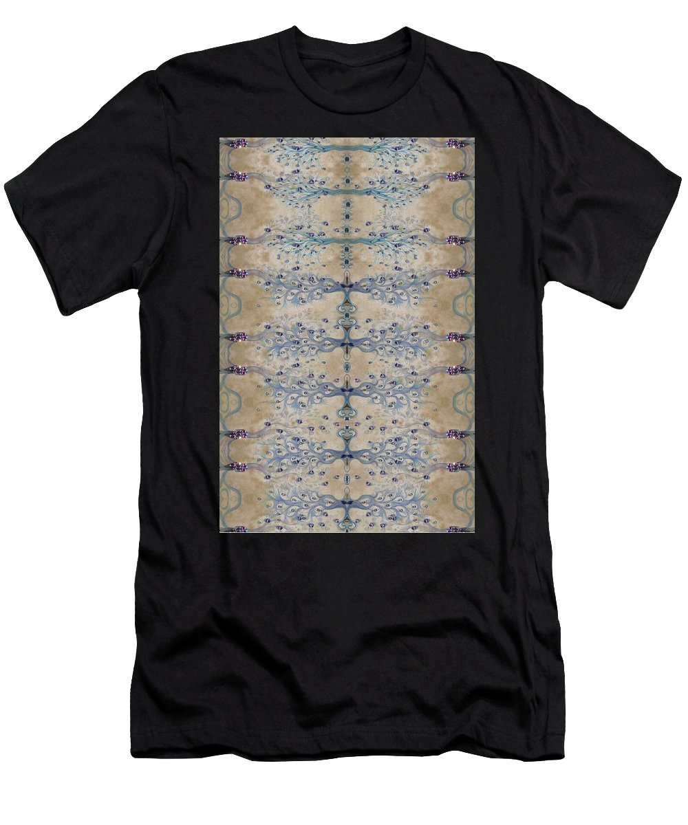 Sand Men's T-Shirt (Athletic Fit) featuring the digital art Sand And Parchment by Sandrine Kespi