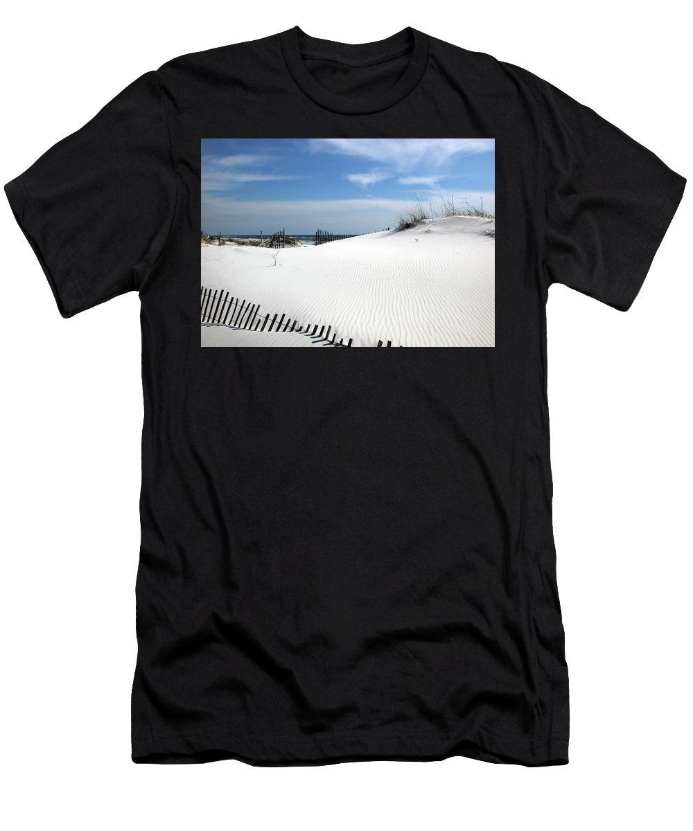 White Men's T-Shirt (Athletic Fit) featuring the photograph Sand Dunes Dream by Marie Hicks