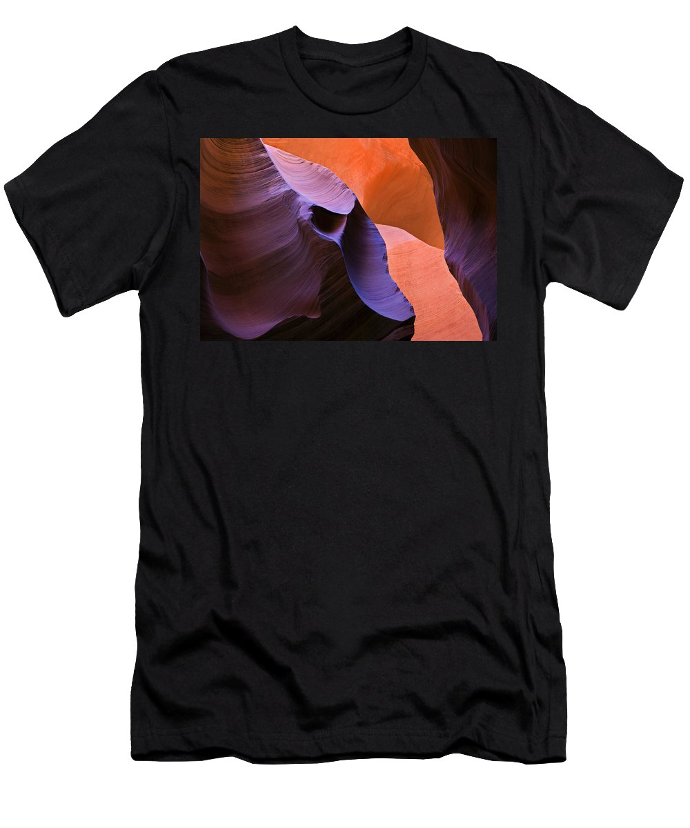 Sandstone Men's T-Shirt (Athletic Fit) featuring the photograph Sandstone Apparition by Mike Dawson
