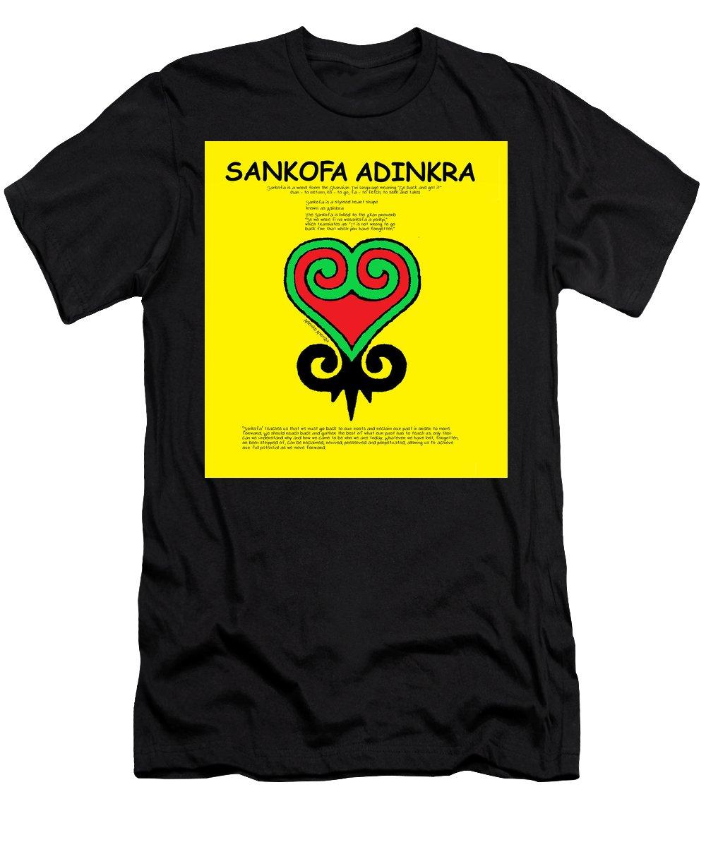 Adinkra Men's T-Shirt (Athletic Fit) featuring the digital art Sankofa Adinkra by Adenike AmenRa