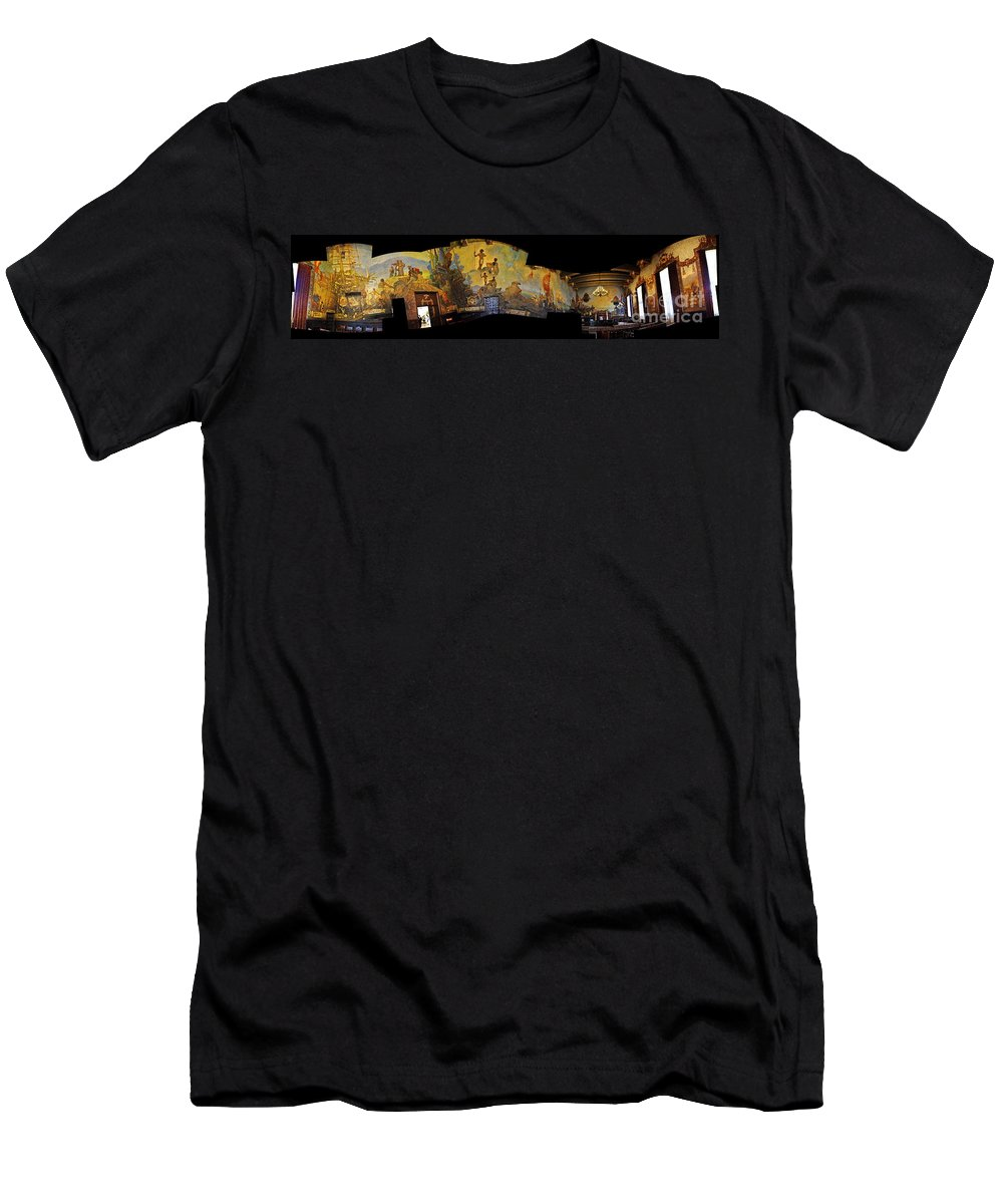 Clay Men's T-Shirt (Athletic Fit) featuring the photograph Santa Barbara Hall Of Murals by Clayton Bruster