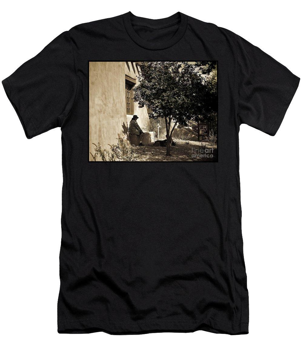 Santa Fe Men's T-Shirt (Athletic Fit) featuring the photograph Santa Fe Woman by Madeline Ellis