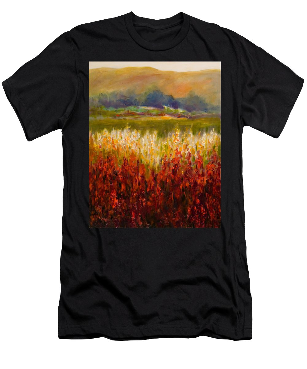 Landscape T-Shirt featuring the painting Santa Rosa Valley by Shannon Grissom