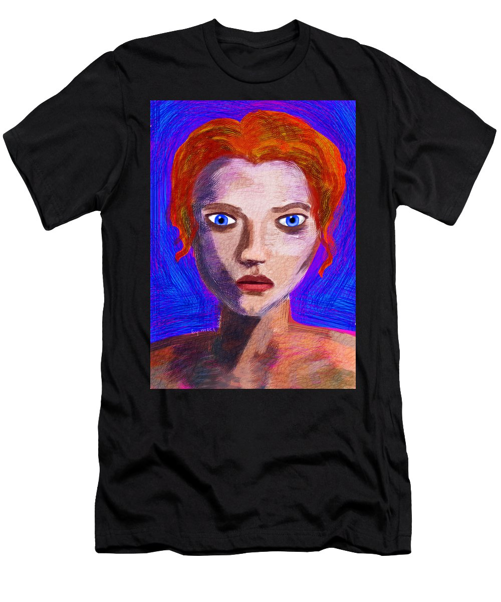 Goddess Men's T-Shirt (Athletic Fit) featuring the painting Santia By Maca II by Maciej Mackiewicz