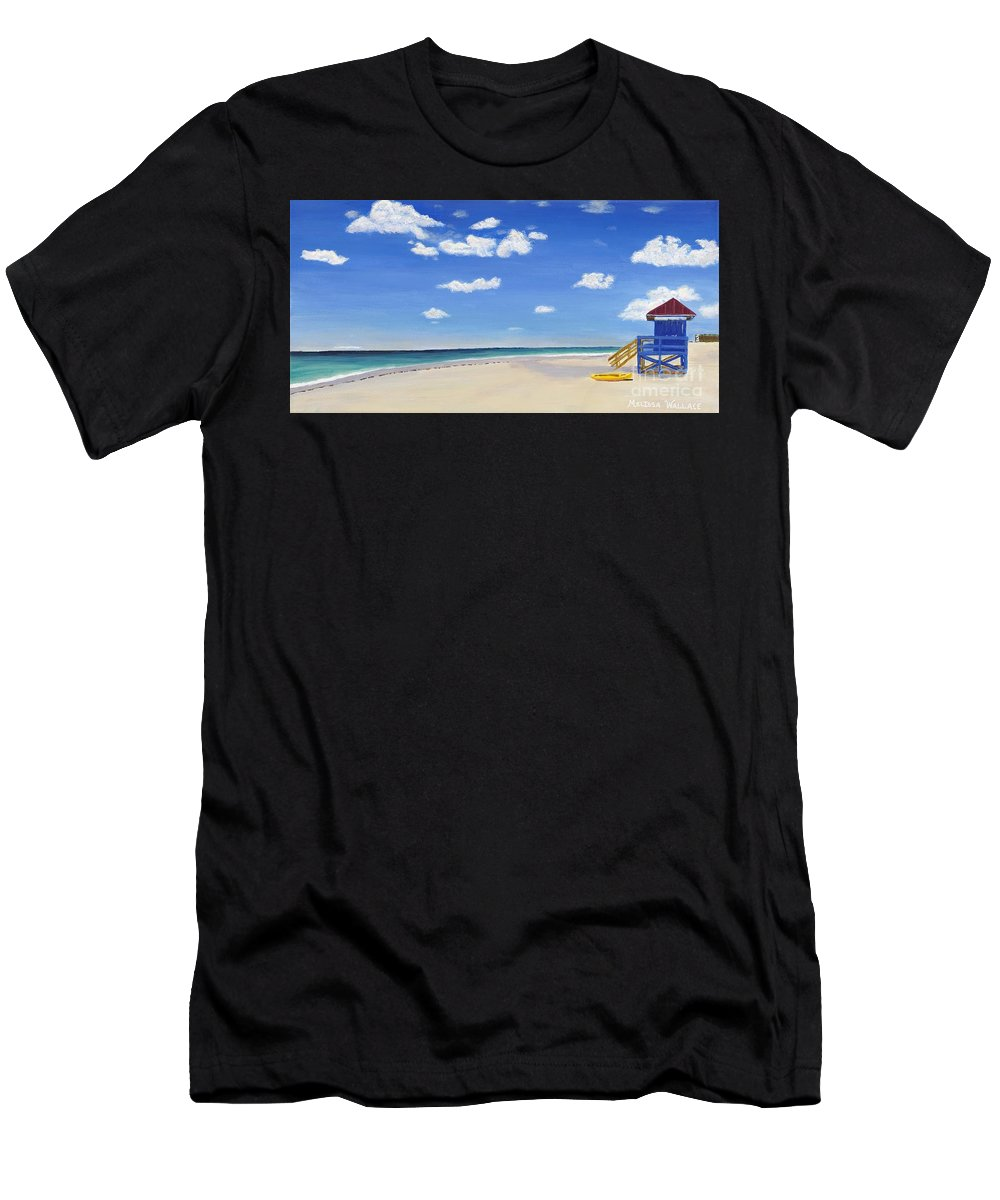 Landscape Men's T-Shirt (Athletic Fit) featuring the painting Sarasota Beach by Melissa Wallace