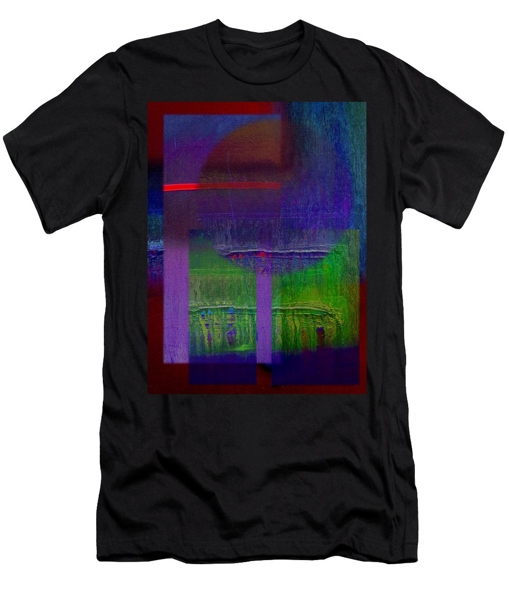 Landscape Men's T-Shirt (Athletic Fit) featuring the painting Saturn by Charles Stuart