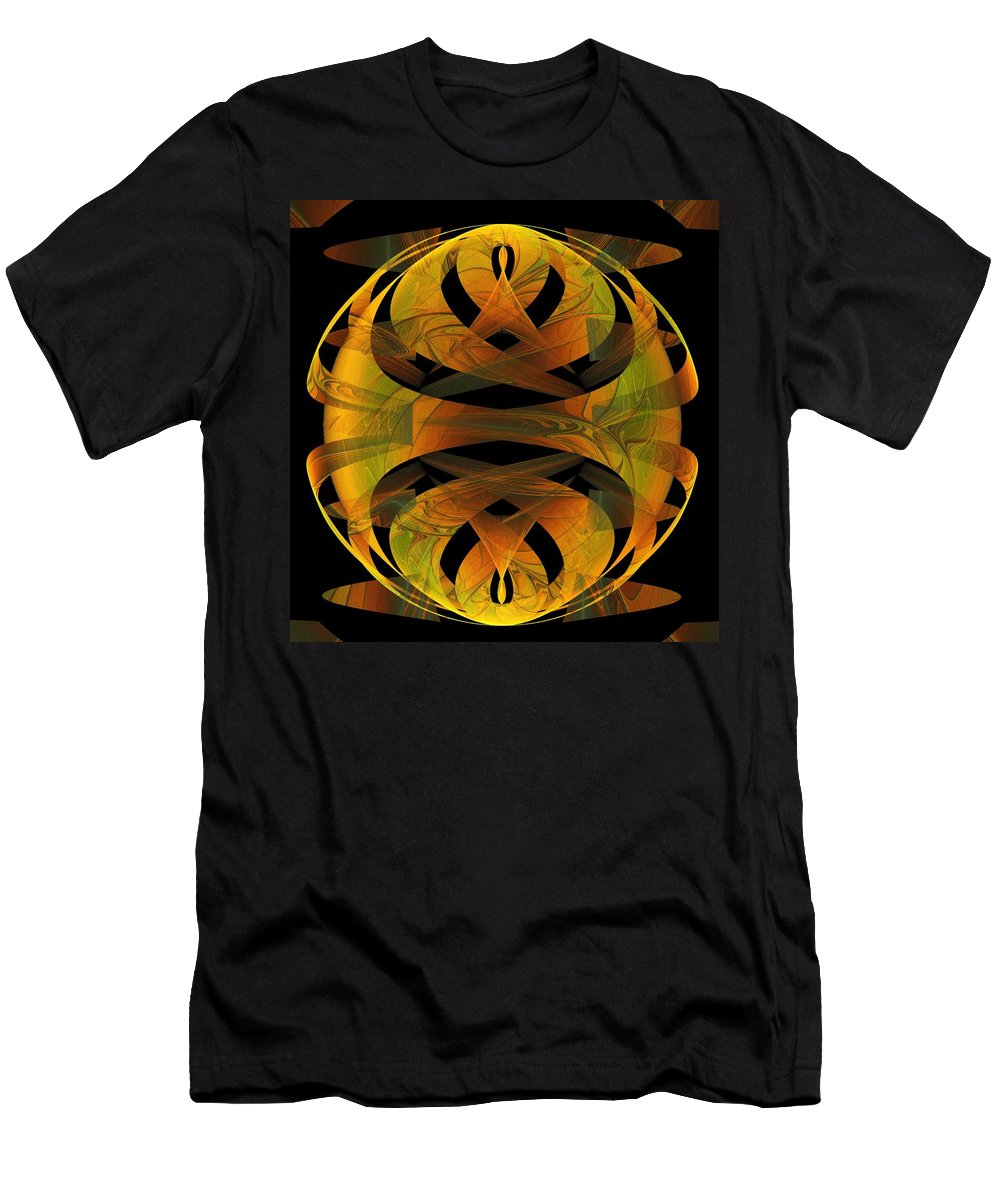 Digital Art Men's T-Shirt (Athletic Fit) featuring the digital art Scarab by Amanda Moore
