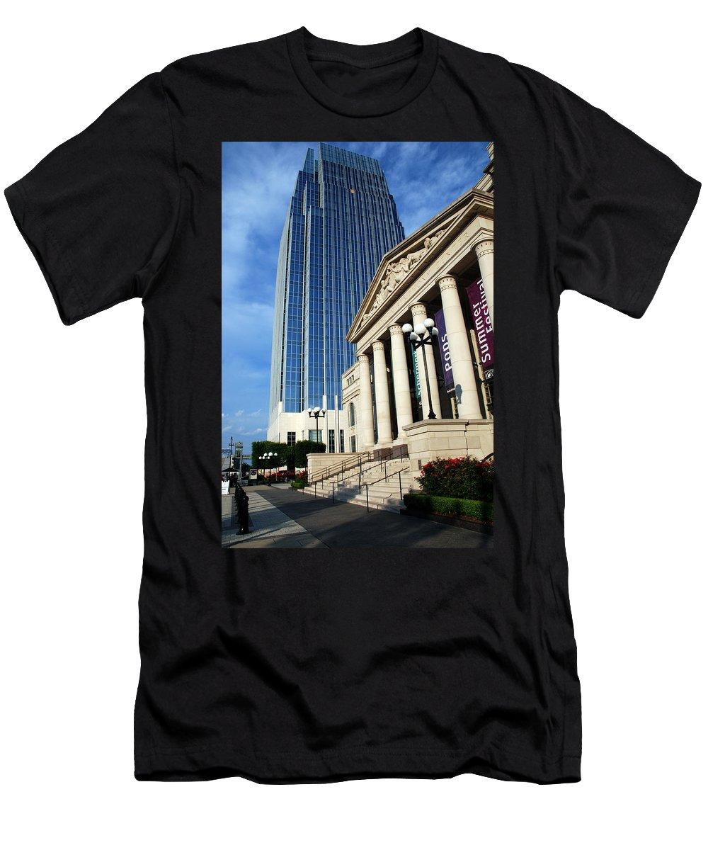 Nashville Men's T-Shirt (Athletic Fit) featuring the photograph Schermerhorn Symphony Center Nashville by Susanne Van Hulst