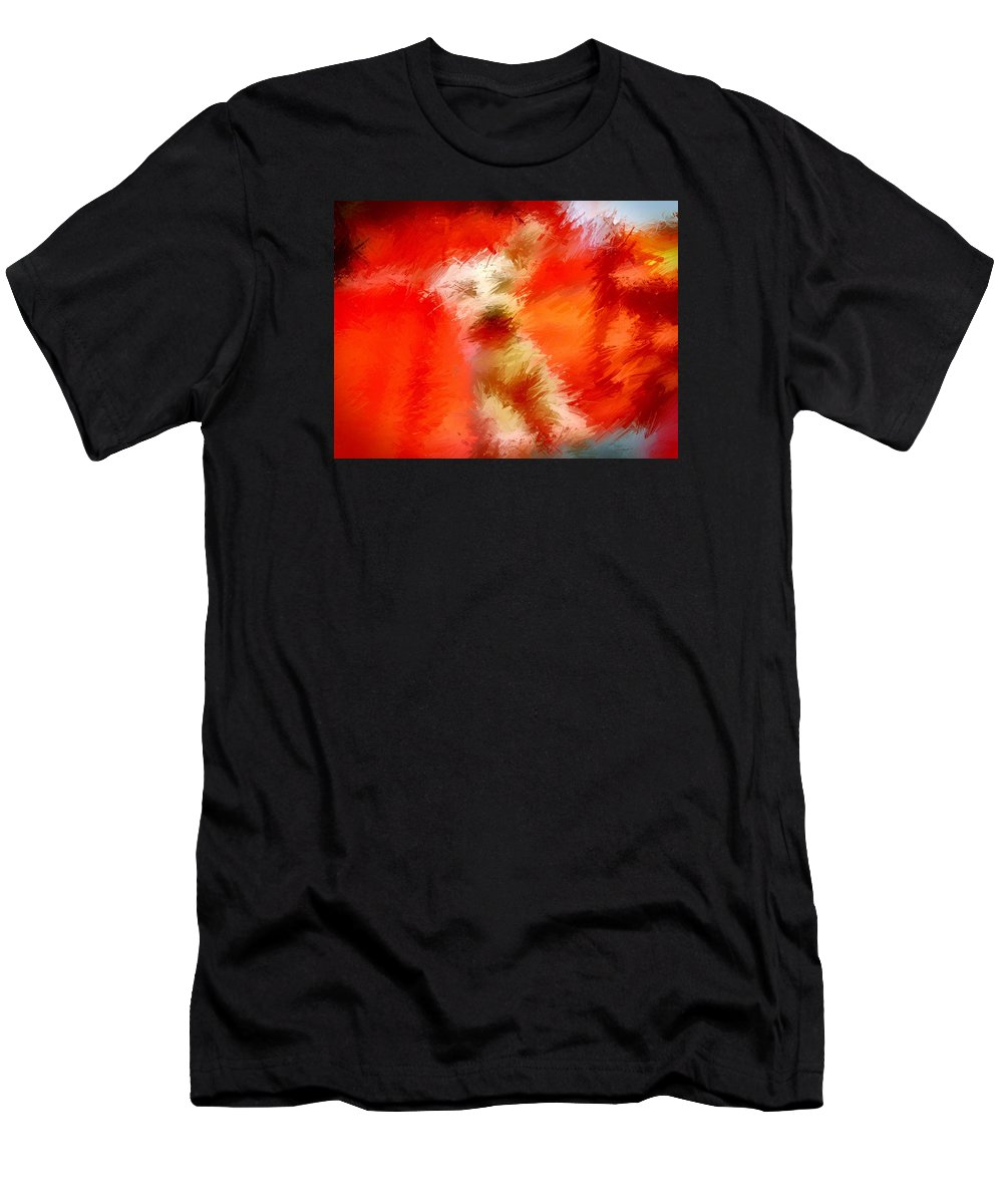 Schnauzer Men's T-Shirt (Athletic Fit) featuring the photograph Schnauzer by Jason Gissler