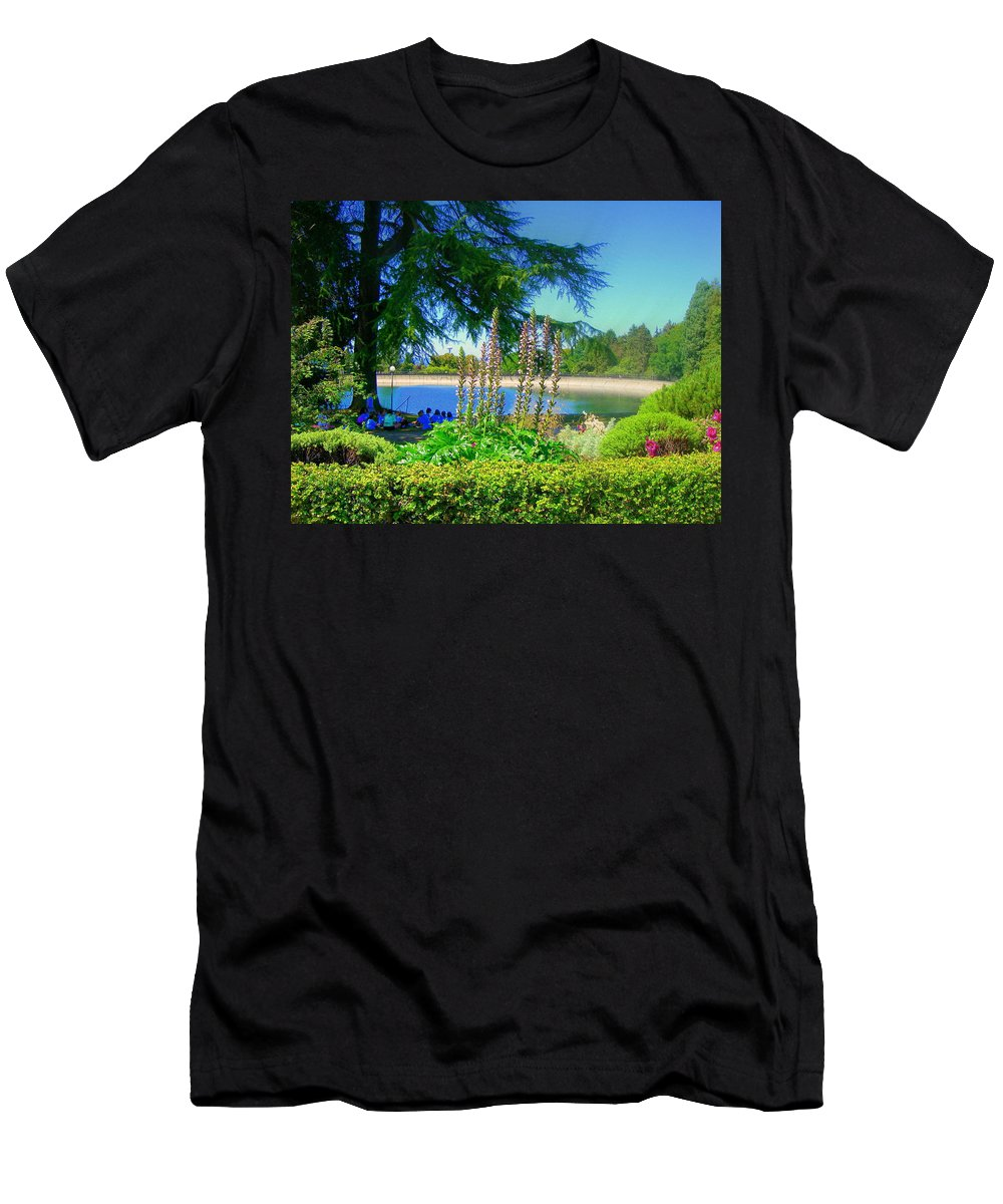 Trees Men's T-Shirt (Athletic Fit) featuring the photograph School Outing by Maro Kentros