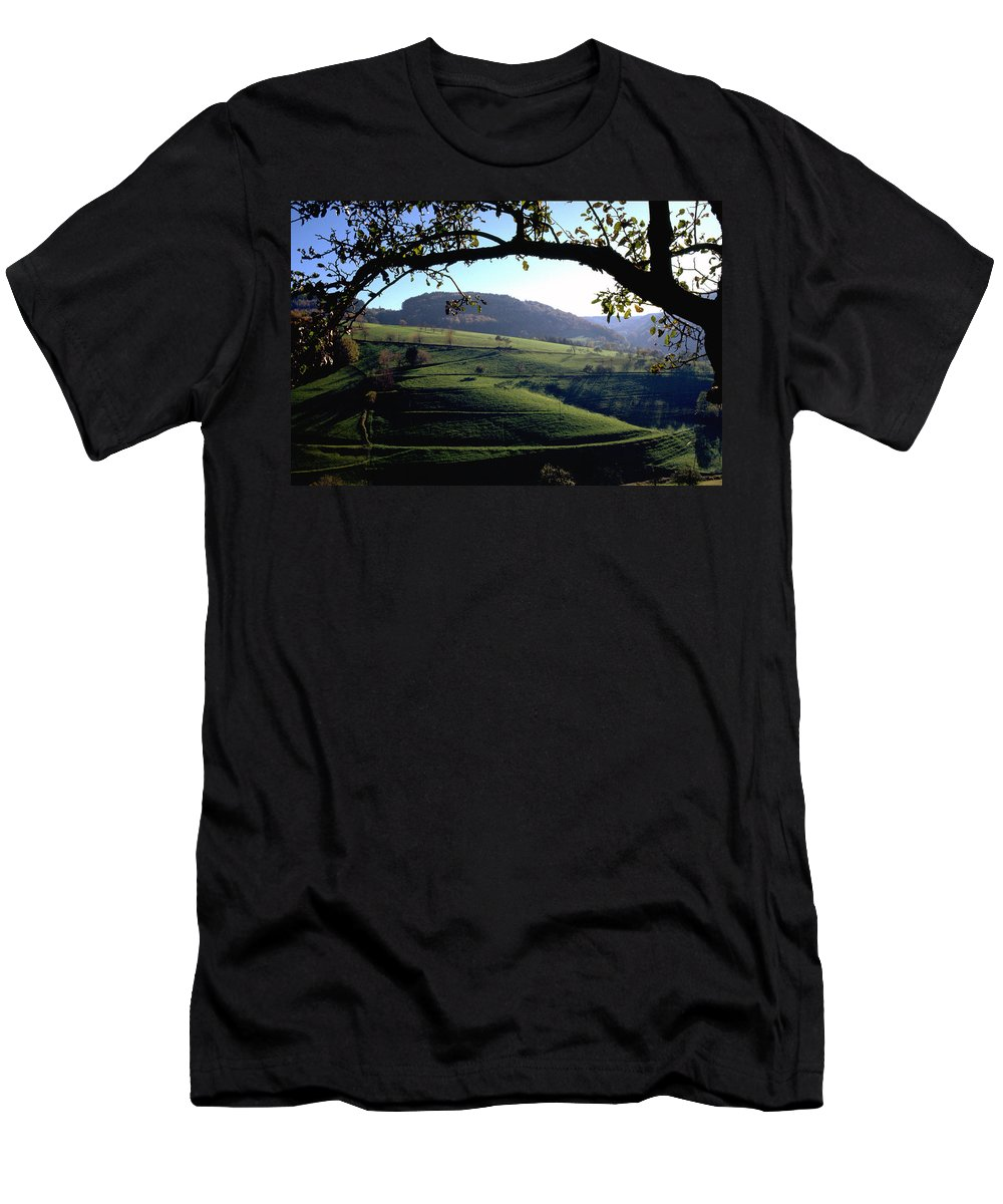 Schwarzwald Men's T-Shirt (Athletic Fit) featuring the photograph Schwarzwald by Flavia Westerwelle