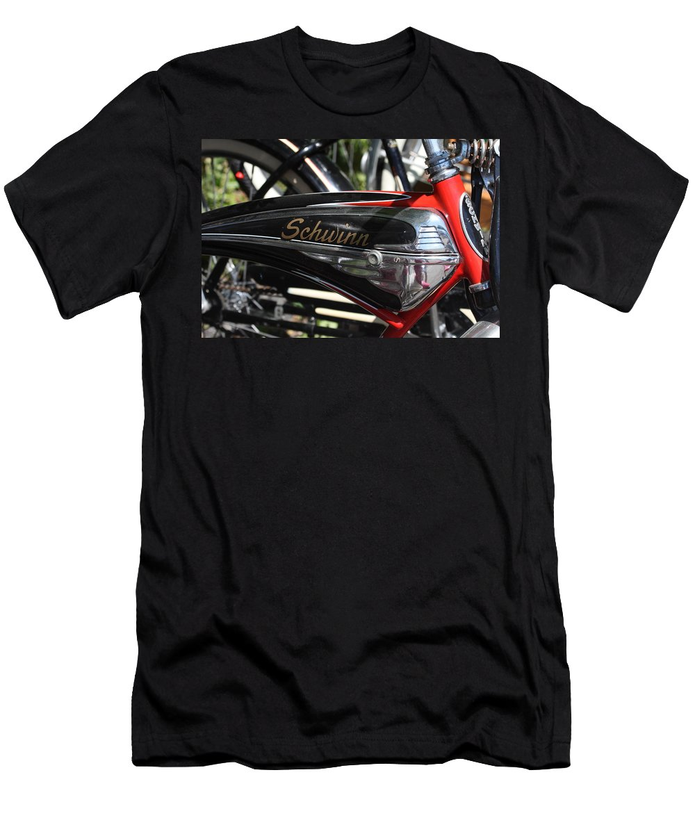 Schwinn Men's T-Shirt (Athletic Fit) featuring the photograph Schwinn Black Phantom by Lauri Novak