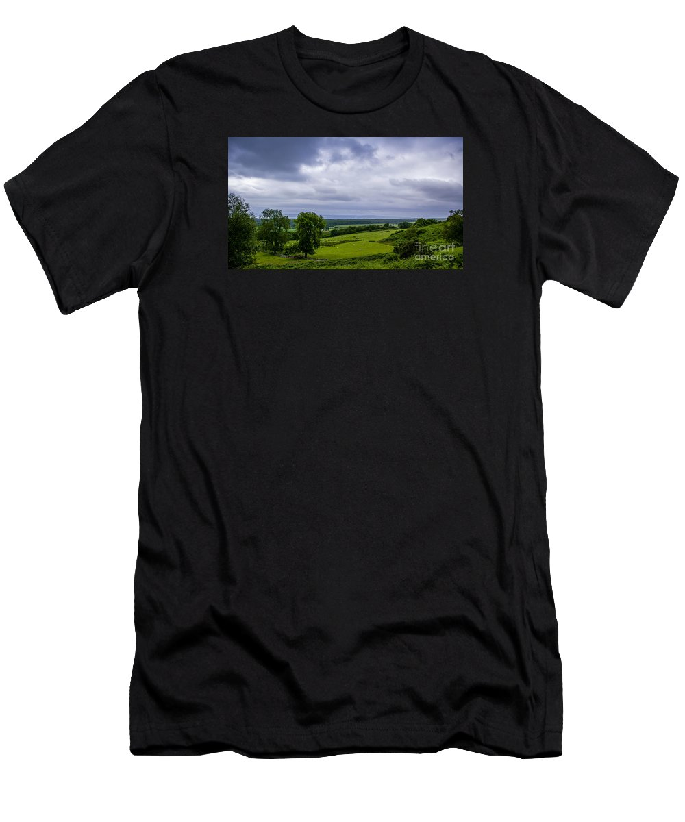 Scotland Men's T-Shirt (Athletic Fit) featuring the photograph Scottish Countryside 1 by Nancy L Marshall