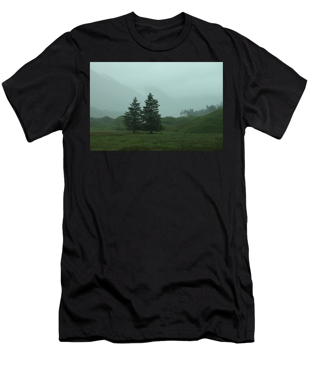 Nature Men's T-Shirt (Athletic Fit) featuring the photograph Scottland by Lisa Spero