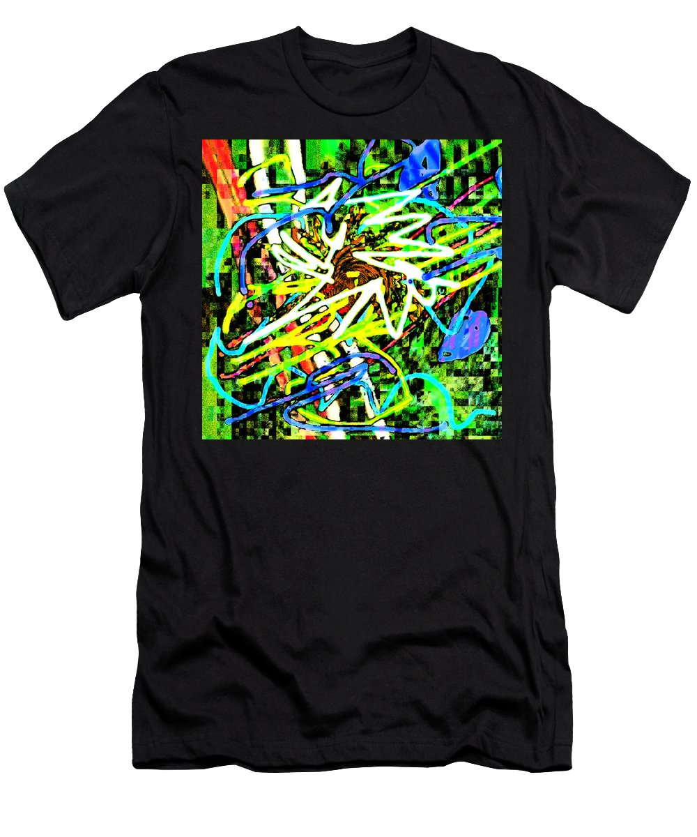 Abstract Men's T-Shirt (Athletic Fit) featuring the digital art Scramble #e by Blind Ape Art