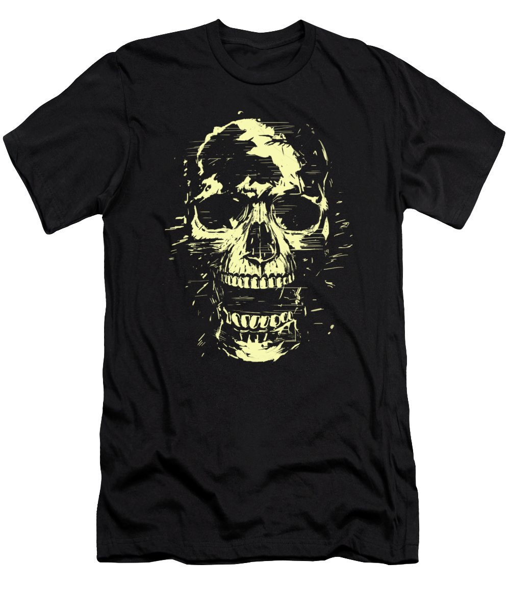 Skull T-Shirt featuring the mixed media Scream by Balazs Solti